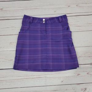 Nike Golf Dri Fit Skirt Purple Plaid Size 8